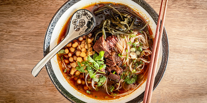 Signature Braised Beef Rice Noodle from Chuan Hung in Telok Ayer, Singapore