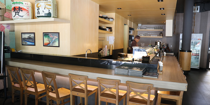 Dining Area from Sushi Oku at 93,95 K Village, Lock B103 Soi Sukumvit 26, Klongton, Klongtoey, Bangkok,