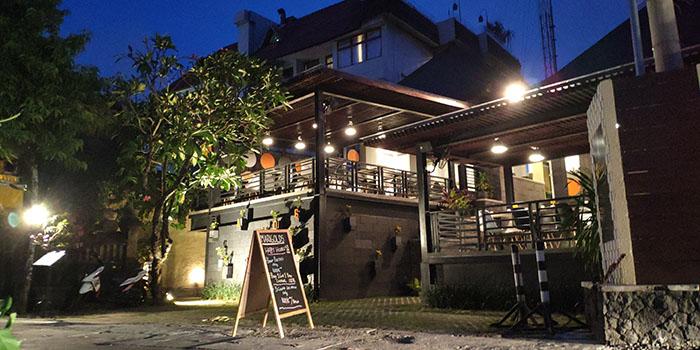 Exterior from Marigolds Restaurant, Seminyak, Bali
