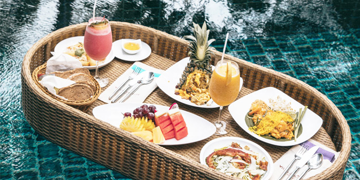 Floating Dishes  from Bambu Restaurant in Chalong, Phuket, Thailand