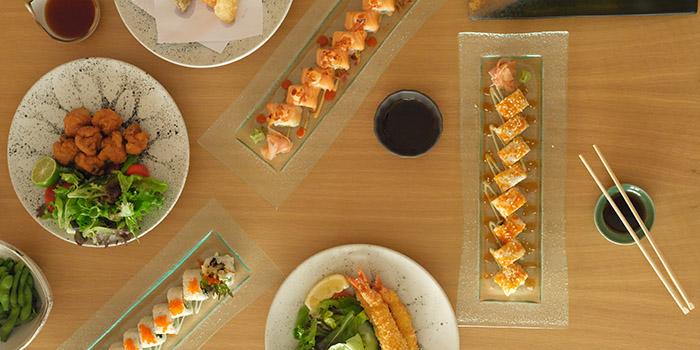 Food from Nagisa Japanese Restaurant, Nusa Dua, Bali