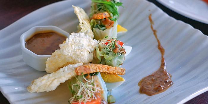 Food from Marigolds Restaurant, Seminyak, Bali