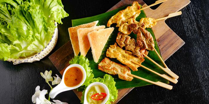 Grilled Satay from babble & rum at Riva Surya Hotel 23 Phra Arthit Road Chanasongkhram Phranakorn Bangkok