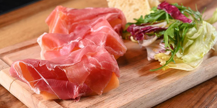 Hams with Salad, The Italian Club Wine Bar, Steak House & Pizza Gourmet, SOHO, Hong Kong