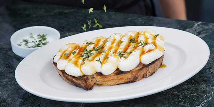 Housemade Ricotta from Caffe Fernet at Customs House in Marina Bay, Singapore