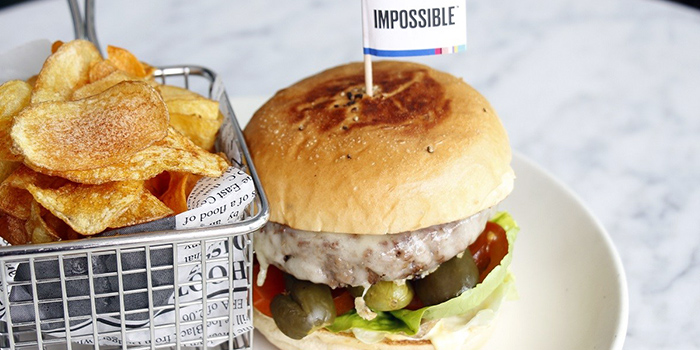 Impossible Burger from The Stamford Brasserie at Swissotel the Stamford in City Hall, Singapore
