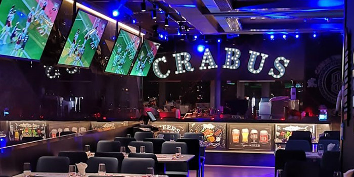 Interior, Crabus Restaurant & Bar, Causeway Bay, Hong Kong