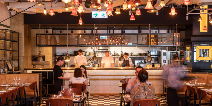 Interior, Bread Street Kitchen & Bar, The Peak, Hong Kong
