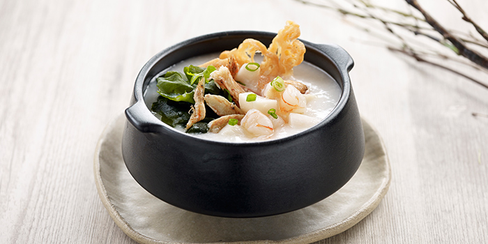 Premium Seafood Congee with Japanese Seaweed from Crystal Jade Hong Kong Kitchen (Takashimaya) at Takashimaya Shopping Centre in Orchard, Singapore
