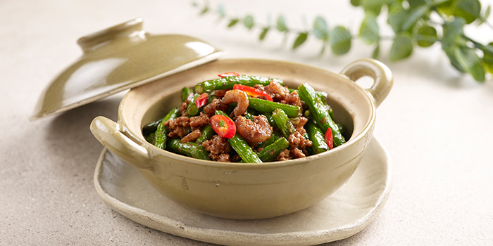 Sauteed French Bean with Tai O Shrimp Paste from Crystal Jade Hong Kong Kitchen (Causeway Point) in Woodlands, Singapore