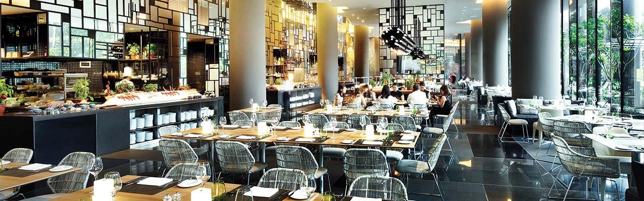 Interior of Lime Restaurant