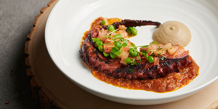 Charred Octopus with Smoked Paprika from Origin Grill at Shangri-La Hotel in Orchard, Singapore