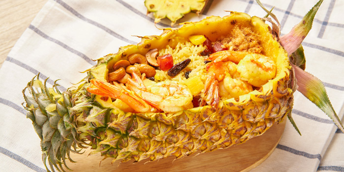Pineapple Fried Rice from Feung Nakorn Kitchen at 29 Soi Fuangthong Wat Rajaborphit, Khet Phra Nakhon Bangkok