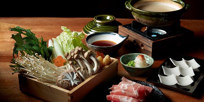 Pork Amazake Shabu Shabu from Bincho at Min Jiang in Dempsey, Singapore