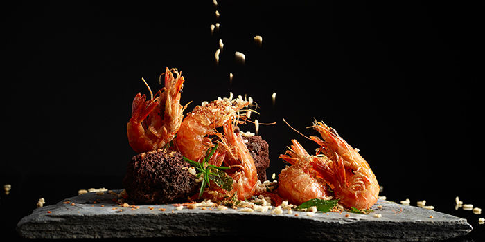 Prawn Deep-fried with Crispy Rice & Minced Garlic from Crystal Jade Palace in Orchard, Singapore