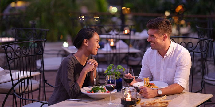 Romantic Dinner at Giorgio Italian Restaurant, Nusa Dua, Bali