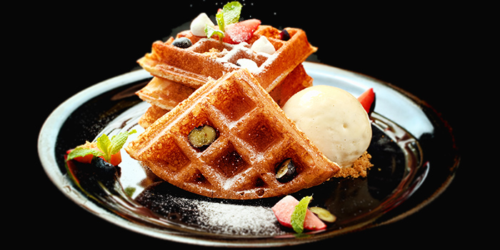Waffle from 5 Senses Bistro (Funan Mall) at Funan Mall in City Hall, Singapore