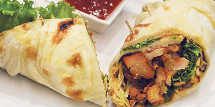Chicken Tikka Wrap from Anglo Indian Cafe & Bar (Shenton Way) in Marina Bay, Singapore