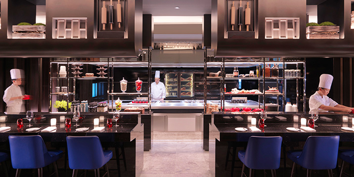 Open Kitchen of Ash & Elm in InterContinental Singapore in Bugis, Singapore