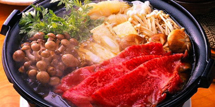 Shabu-shabu from Azmaya Honten (Cuppage Plaza) in Orchard, Singapore