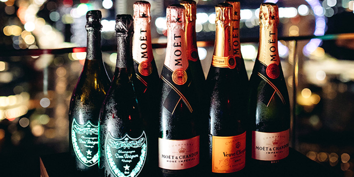 Champagne Bottles from Bar Rouge at Swissotel the Stamford in City Hall, Singapore