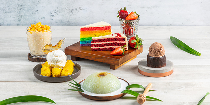 Assorted Desserts from Bijan Restaurant at Grandlink Square in Paya Lebar, Singapore