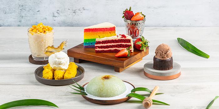Assorted Desserts from Bijan Restaurant at Grandlink Square in Paya Lebar, Singapore