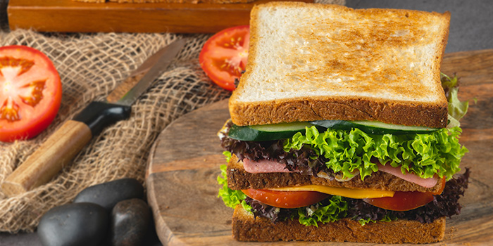 Finger & Club Sandwich from Bijan Restaurant at Grandlink Square in Paya Lebar, Singapore