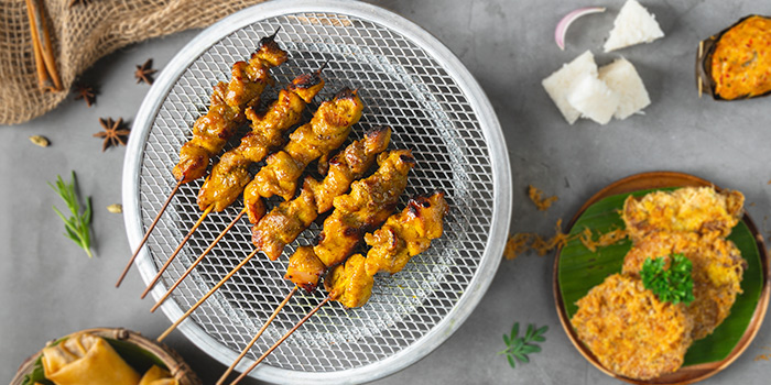 Satay from Bijan Restaurant at Grandlink Square in Paya Lebar, Singapore