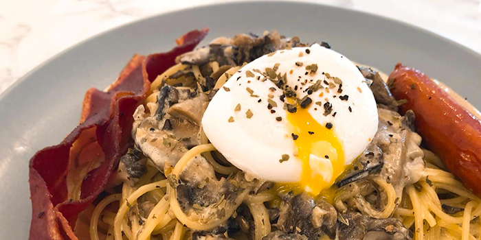 Premium Truffle Breakfast Pasta from Carrara Cafe in Bukit Merah, Singapore
