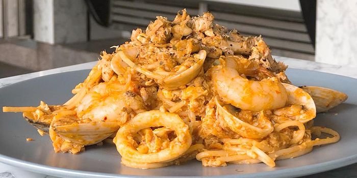 Signature Chili Crab Seafood Pasta from Carrara Cafe in Bukit Merah, Singapore