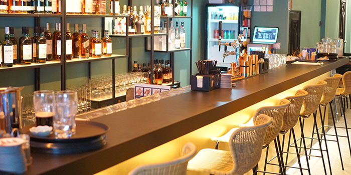 Interior of Kitchen Kumars in Duxton, Singapore