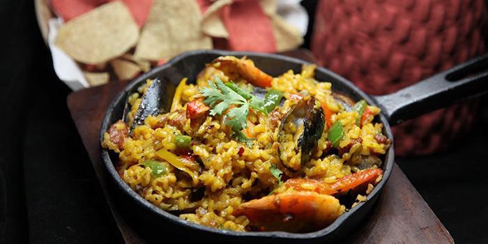 Paella Valenciana from La Salsa in Dempsey, Singapore