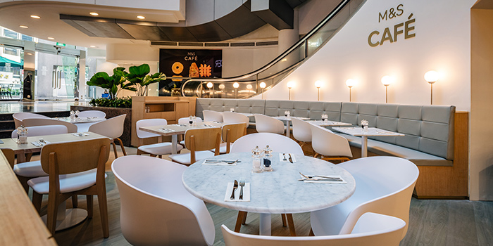 Interior of M&S Café (Wheelock Place) at Wheelock Place in Orchard, Singapore