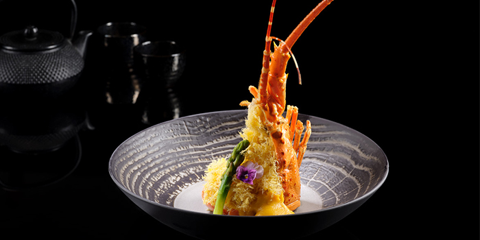 Deep Fried Lobster, Egg Floss, Asparagus, Asian Cream Sauce from Man Fu Yuan in InterContinental Singapore in Bugis, Singapore
