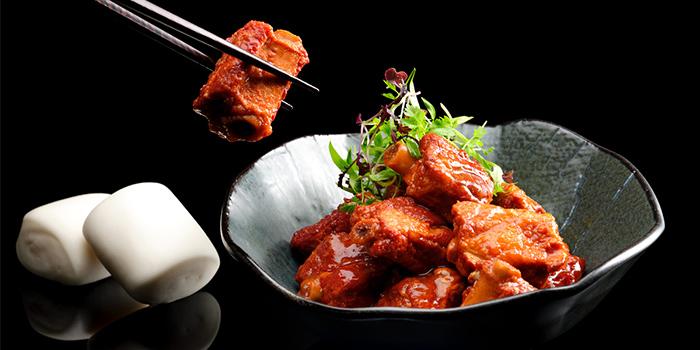 Slow-Braised Pork Ribs, Mantou Bun from Man Fu Yuan in InterContinental Singapore in Bugis, Singapore