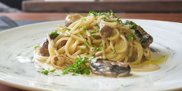 Wild Mushroom Spaghetti from Meat-Me Steakhouse in Dempsey, Singapore