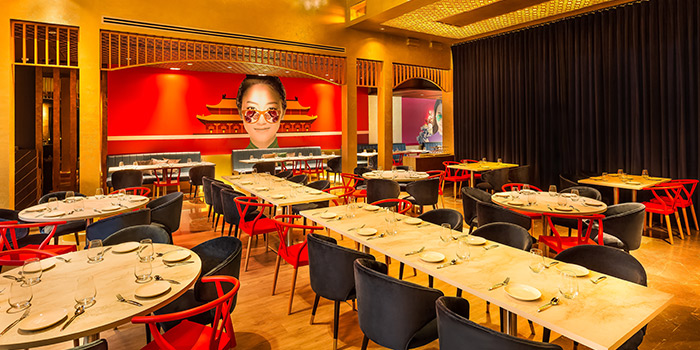 Interior of Mimi Restaurant in Clarke Quay, Singapore
