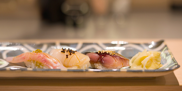 Nigiri Sushi from Miraku in Chinatown, Singapore
