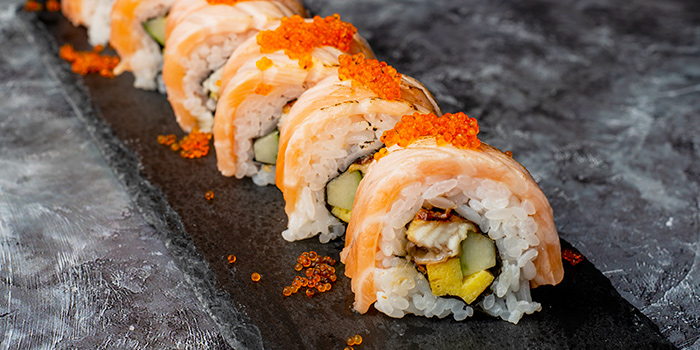 Salmon Roll from Monzen@Gardens at myVillage@Serangoon Garden in Serangoon, Singapore