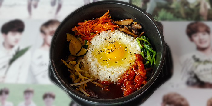 Hotstone Bimbimbap from NAYANA Kpop Cafe & Restaurant in Ang Mo Kio, Singapore