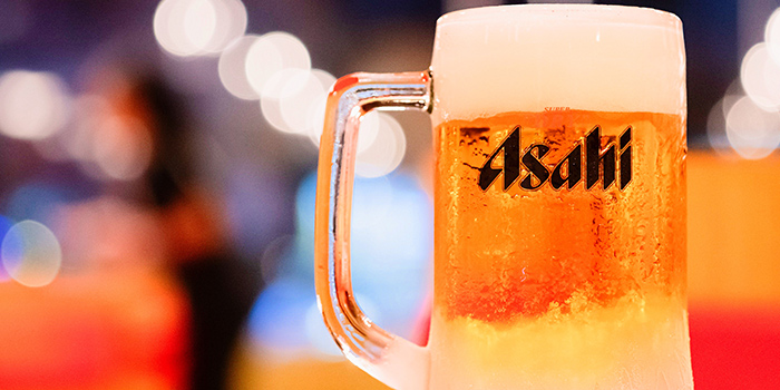 Asahi from OSG Music Bar + Kitchen at Suntec City Mall in Promenade, Singapore