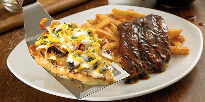Baby Back Ribs and Alice Springs Chicken from Outback Steakhouse at Orchard Gateway in Orchard, Singapore