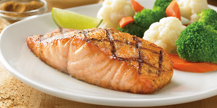 Grilled Salmon from Outback Steakhouse at Orchard Gateway in Orchard, Singapore