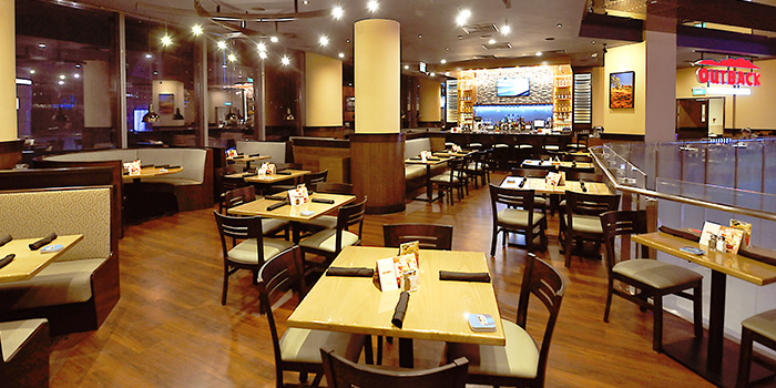 Interior of Outback Steakhouse at Orchard Gateway in Orchard, Singapore