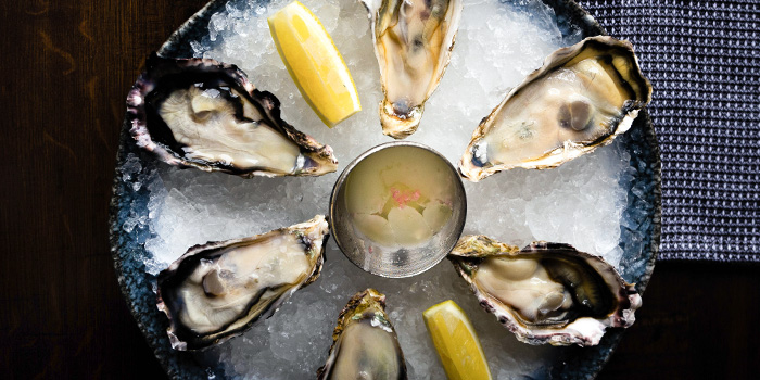 Fresh Oysters from Restaurant Beurre in Duxton, Singapore