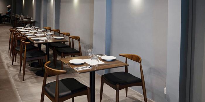 Interior of Restaurant Beurre in Duxton, Singapore