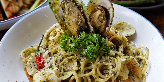 Spaghetti Seafood Pesto from Taliwang Restaurant in Bugis, Singapore