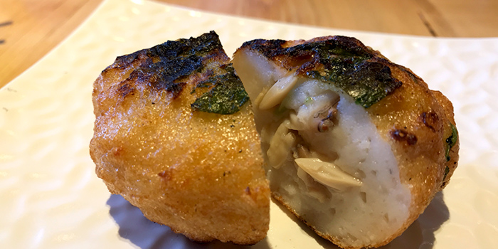 Fish Cake with Asari Clams from Tamashii on North Canal Road in Boat Quay, Singapore