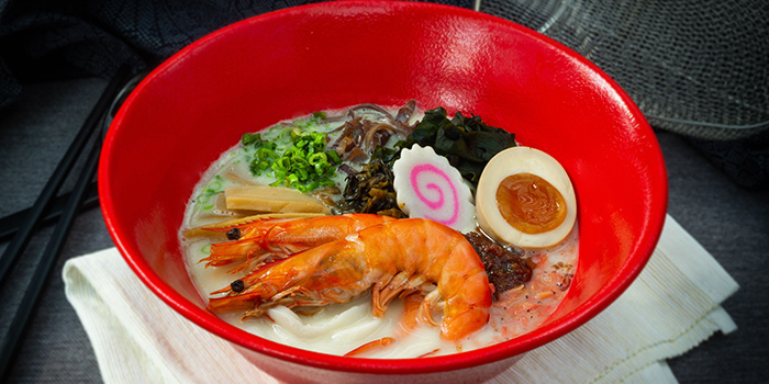 Prawn Tonkotsu from Udon Kamon at Suntec City Tower 1 in Promenade, Singapore